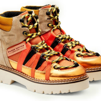 Scotch & Soda kotníkové boty Olivine Mid Lace Boot Orange Multi