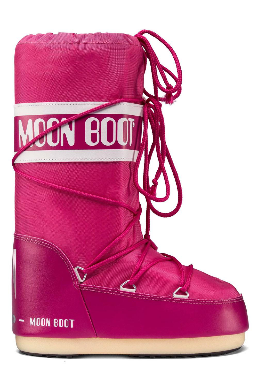 Moon Boot růžové zimní boty Nylon Bouganville