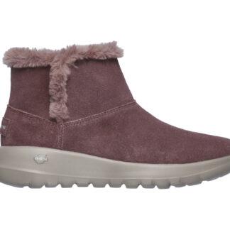 Skechers růžové zimní boty On The Go Joy Bundle Up s kožíškem