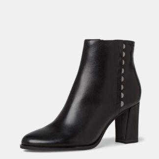 Tamaris černé kotníkové kožené boty