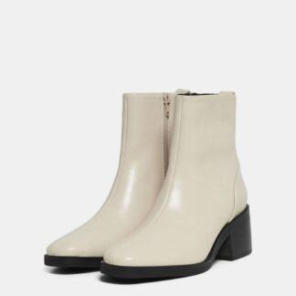 Krémové kotníkové boty ONLY Blush