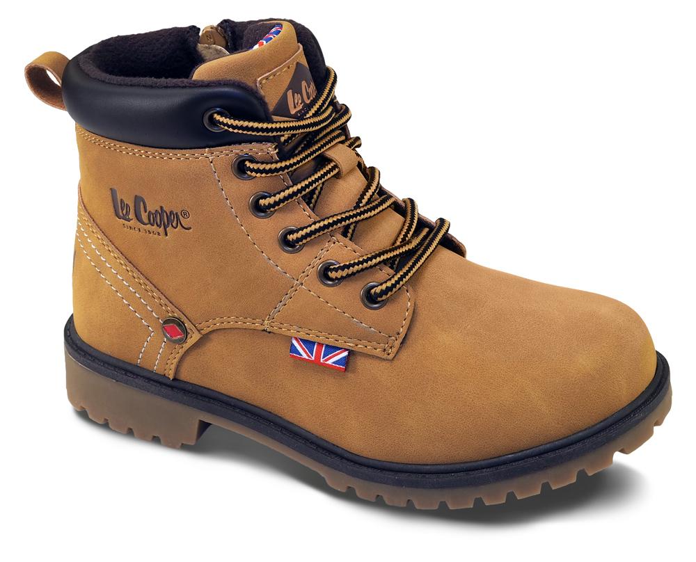 Lee Cooper hnědé chlapecké boty Brown Nut