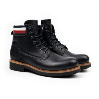 Tommy Hilfiger pánské kožené boty Corporate Leather Boot Desert Sky