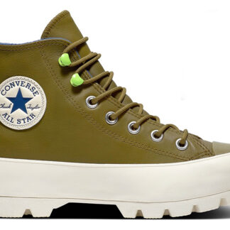 Converse gore-tex kožené tenisky na platformě Chuck Taylor All Star Lugged Winter Combat Green