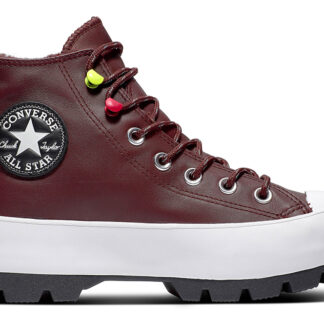 Converse gore-tex kožené tenisky na platformě Chuck Taylor All Star Lugged Winter Dark Chocolate