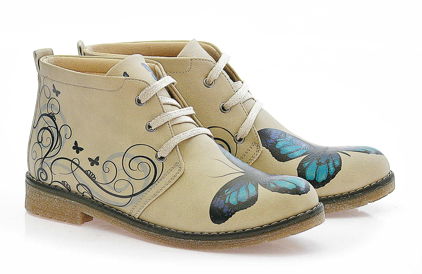 Goby béžové kotníkové boty Butterfly