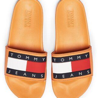 Tommy Hilfiger oranžové pantofle Tommy Jeans Flag Pool Slide Orange