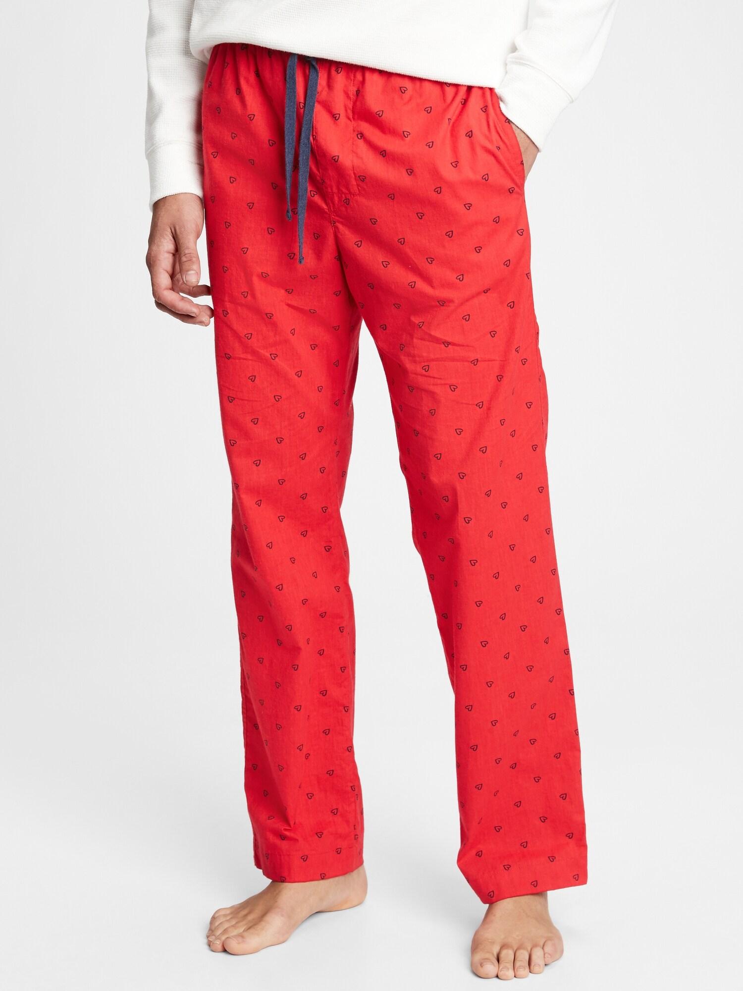GAP červené pánské pyžamové kalhoty