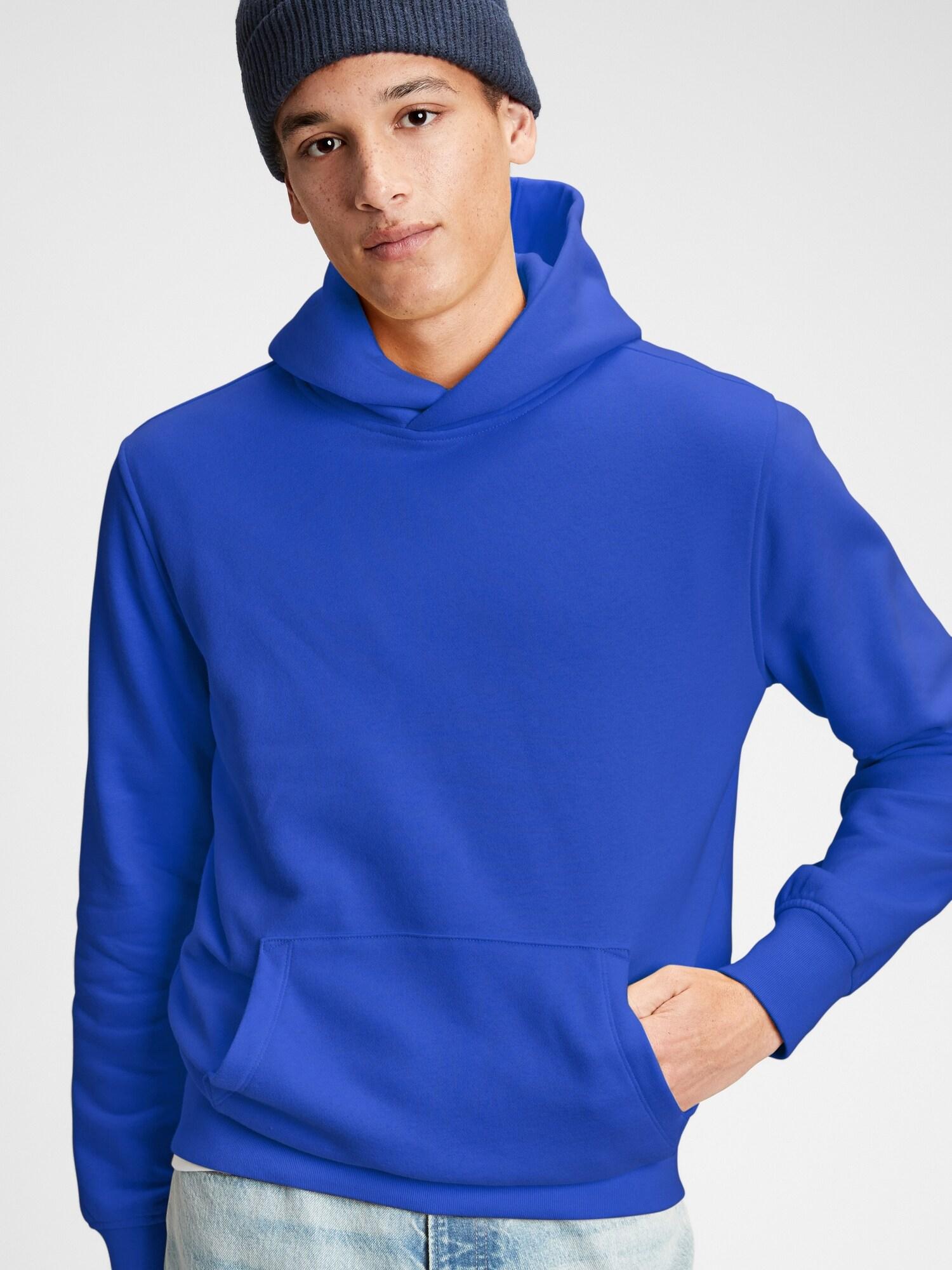 GAP modrá pánská mikina s kapucí
