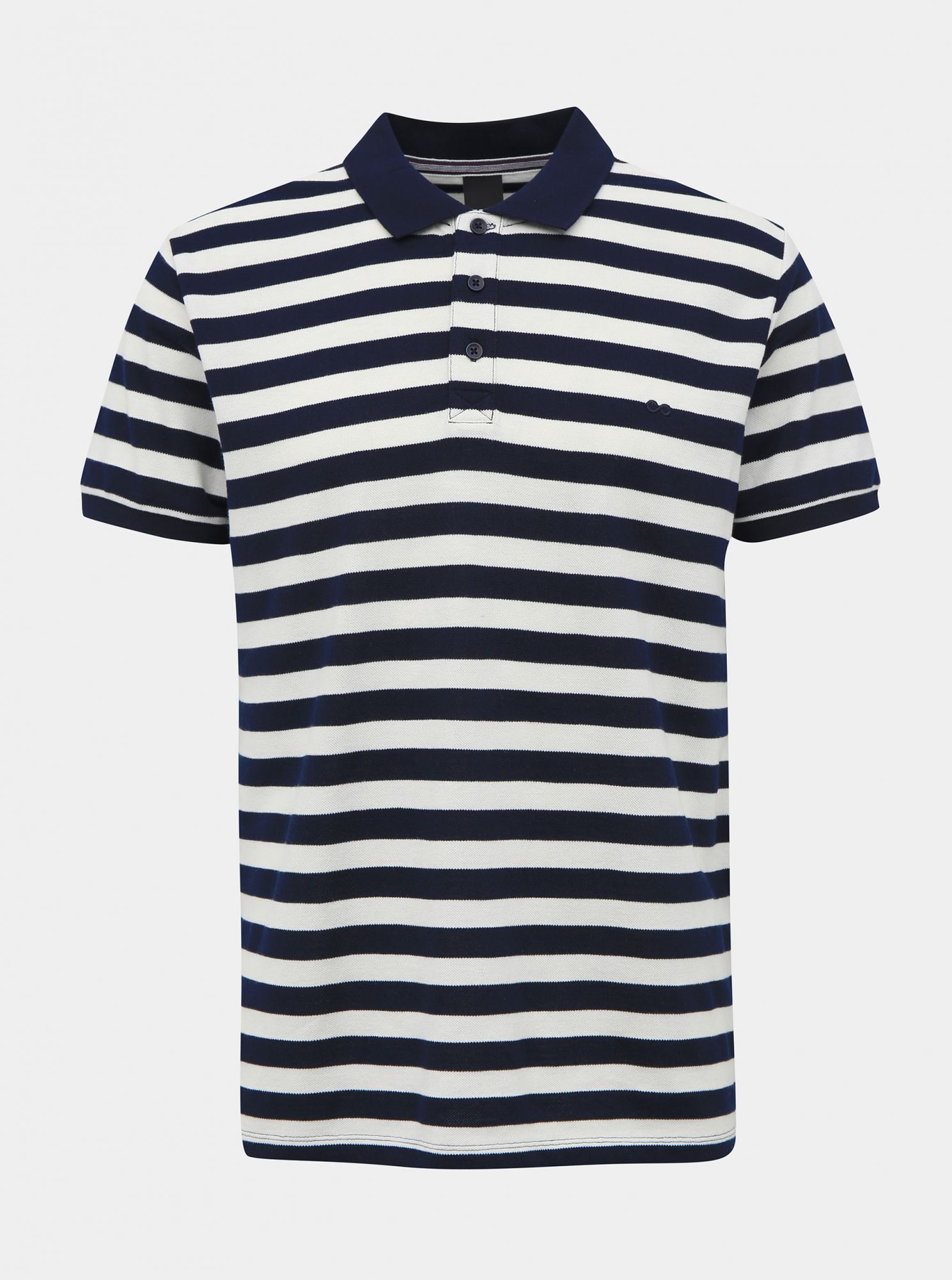 ZOOT bílo-modré basic polo pánské tričko Lucas