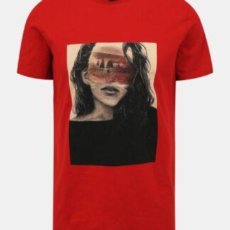 ZOOT červené pánské tričko Brody s potiskem