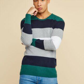 ZOOT zeleno-šedý pánský svetr Matt