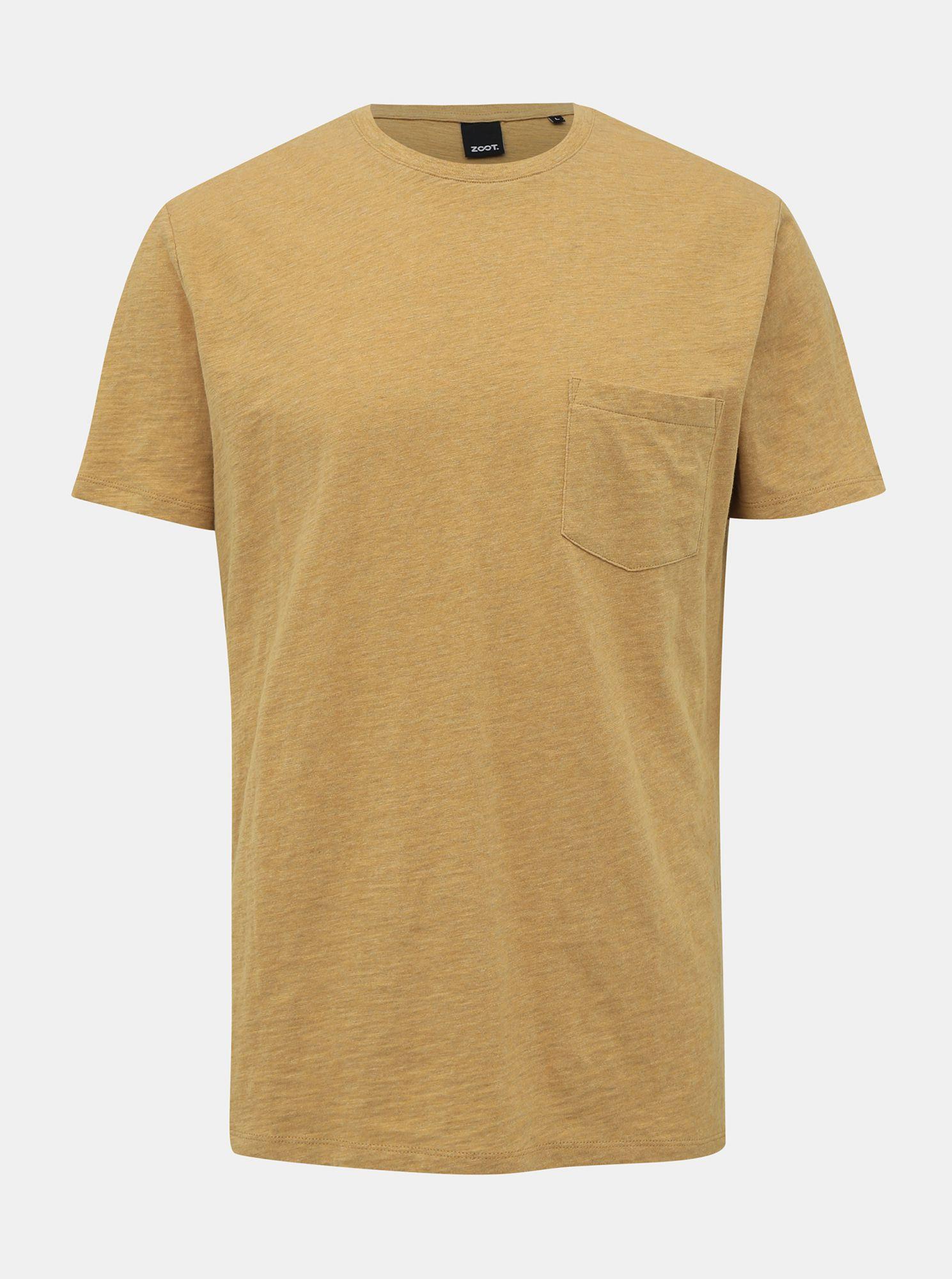 ZOOT žluté pánské basic tričko Brandon