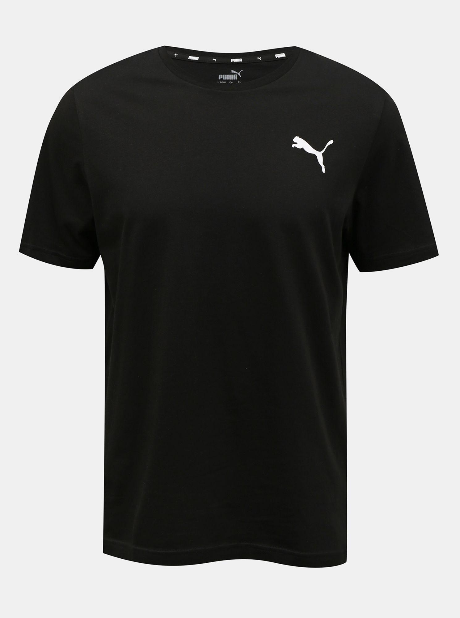 Puma černé pánské tričko s logem