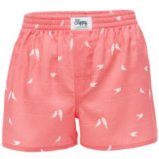 Slippsy růžové pánské trenýrky Dove Boy s holubičkami