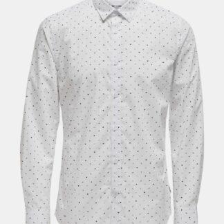 ONLY & SONS bílá pánská košile