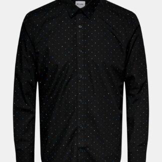 ONLY & SONS černá pánská košile slim fit