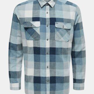 ONLY & SONS modrá kostkovaná košile