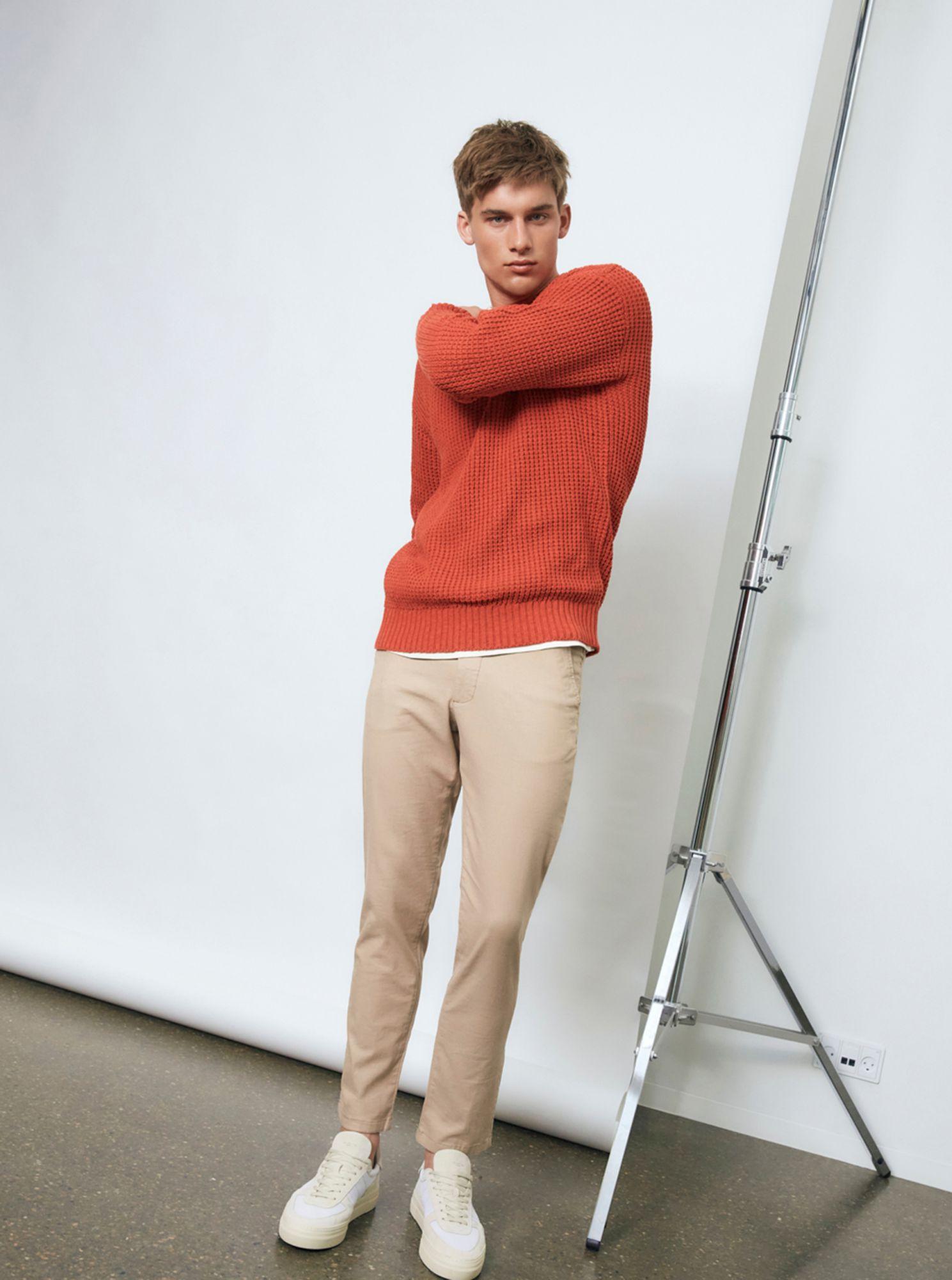 Selected Homme oranžový pánský svetr