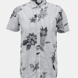 Jack & Jones šedo-bílá pruhovaná košile Flower