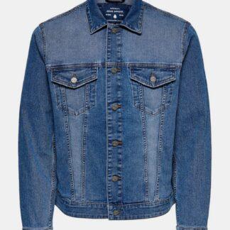 ONLY & SONS modrá džínová pánská bunda