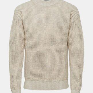 Selected Homme krémový pánský svetr
