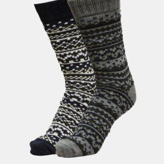 Selected Homme šedo-černý 2 pack ponožek