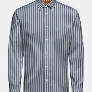 Selected Homme modro-bílá pruhovaná košile