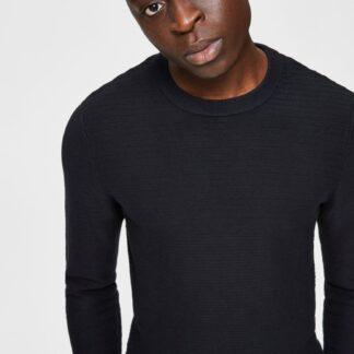 Selected Homme černý basic pánský svetr