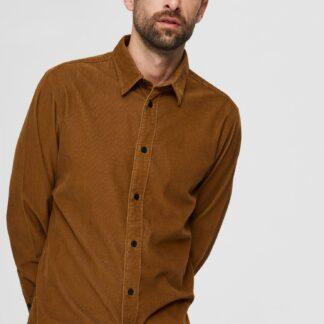 Selected Homme hnědá pánská košile
