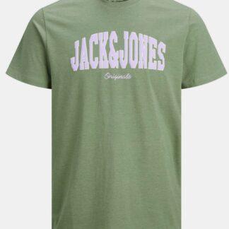 Jack & Jones zelené pánské tričko s potiskem