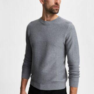 Selected Homme šedý pánský basic svetr