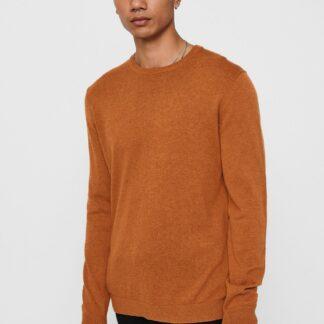 ONLY & SONS oranžový pánský basic svetr