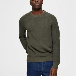 Selected Homme khaki pánský svetr