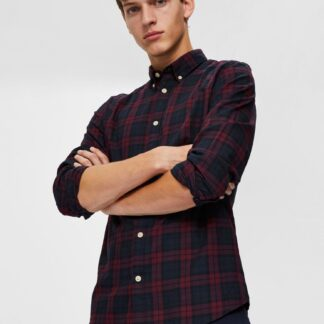Selected Homme modro-vínová pánská košile