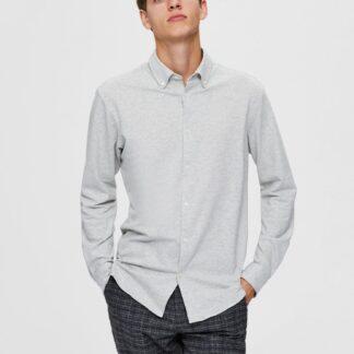 Selected Homme šedá pánská košile