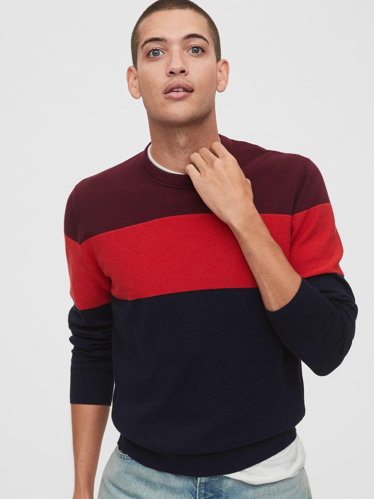 GAP modrý pánský svetr