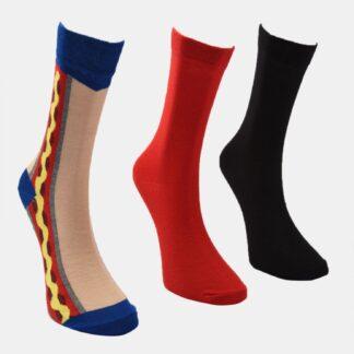 Trendyol 3 pack červených a černých pánských ponožek