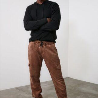 Trendyol hnědé pánské kalhoty