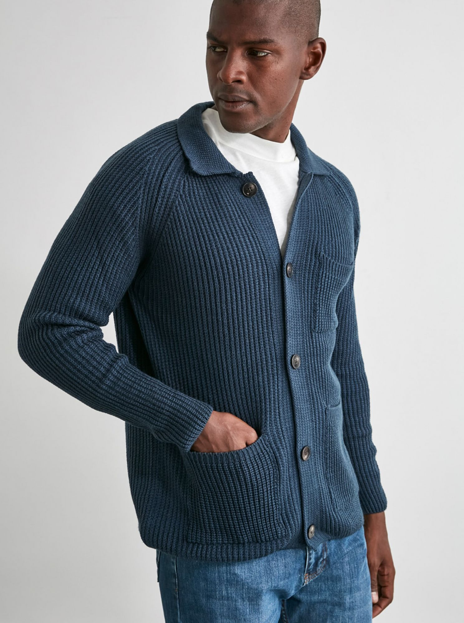 Trendyol tmavě modrý pánský svetr