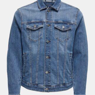 ONLY & SONS modrá džínová bunda