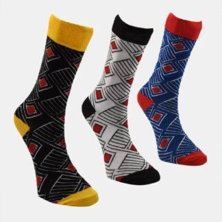 Trendyol 3 pack ponožek v modré a šedé barvě