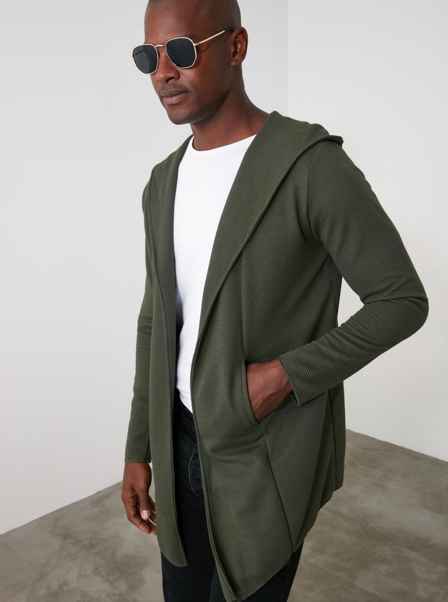 Trendyol khaki pánský svetr