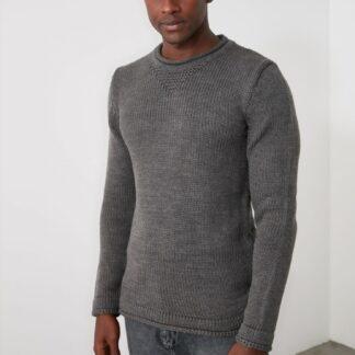 Trendyol šedý pánský svetr