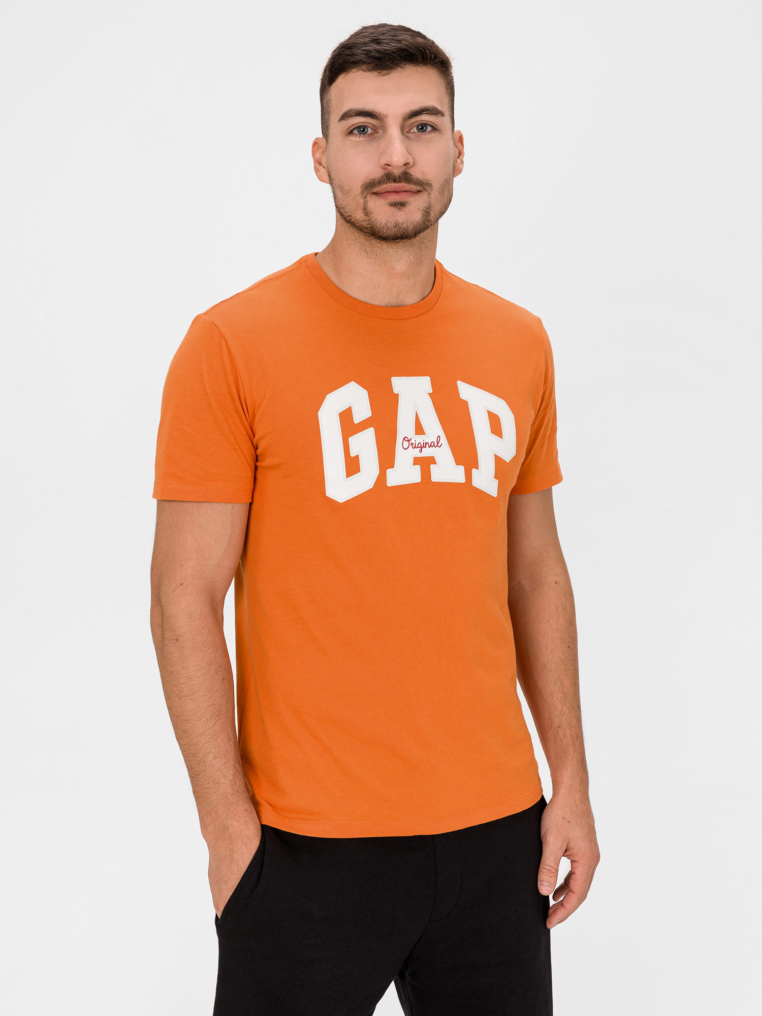 GAP oranžové pánské tričko s logem