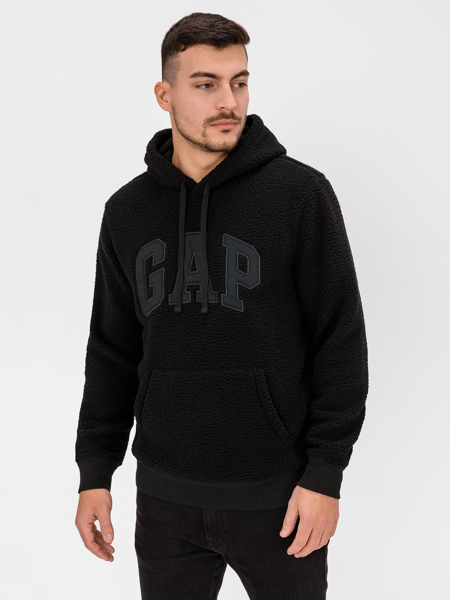 GAP černá pánská mikina s kapucí