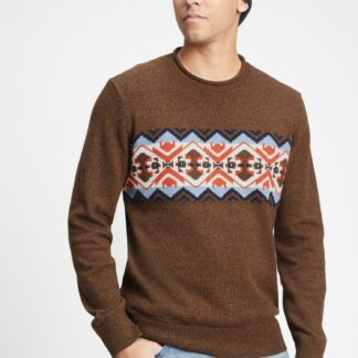 GAP hnědý pánský svetr
