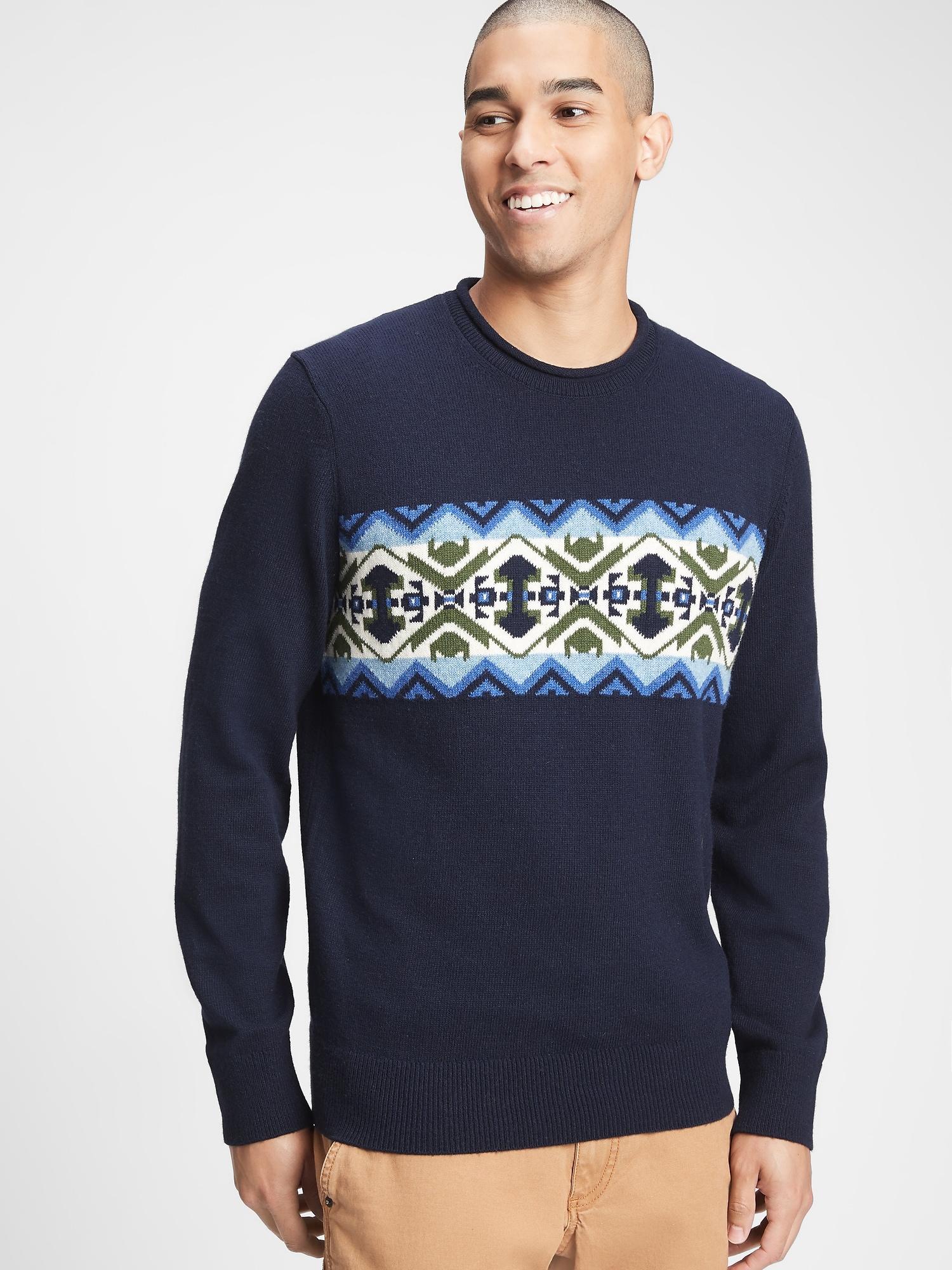 GAP modré pánský svetr