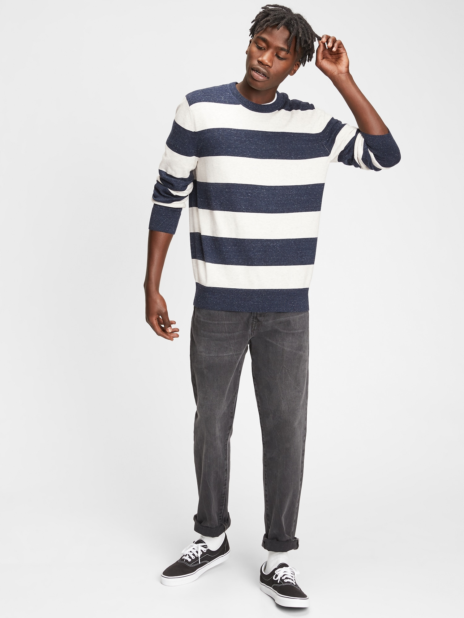 GAP bílé pánský svetr