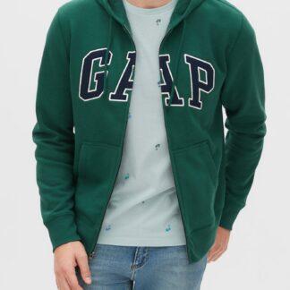 GAP zelená pánská mikina s kapucí